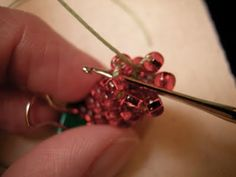 how to crochet a bead bracelet - i remember these and crochet bead rings from the 1970's - very retro look