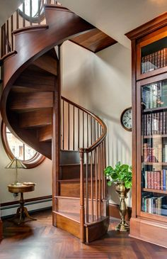 Graceful spiral staircase drawing exclusive on indoneso home decor Spiral Staircase For Sale, Spiral Staircase Dimensions, Staircase Drawing, Staircase Design, Traditional Staircase, Georgian Homes, Houzz, Tiny House, Small Spaces