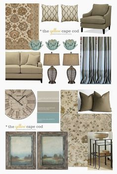 Whole House Design Project~Linen, Gray and Turquoise