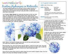 Painting Hydrangeas in Watercolor Free Tip