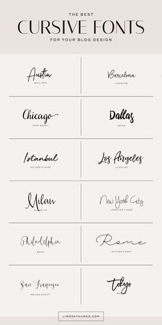 collection of beautiful cursive fonts.A collection of beautiful cursive fonts. Calligraphy Fonts, Typography Fonts, Typography Design, Branding Design, Tattoo Typography, Font Tattoo, Fonts For Logos, Best Tattoo Fonts, Wedding Typography