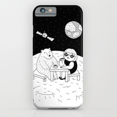 If someday we need to move to outer space, let's have some coffee on the moon first. #illustration #doodle #art #drawing #pen #bnw #blackandwhite #bw #mono #society6 #s6 #moon #polarbear #coffee #space #phone #iphone #iphone5 #iphone5s #iphone6 #iphone6plus #case