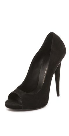 Giuseppe Zanotti Alien Peep Toe Pumps - I have so many pairs of black pumps. Can't ever have enough :)