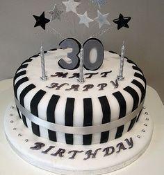 Black, White, Silver Cake,next time tell him to buy a bigger cake for you! if he's with you!