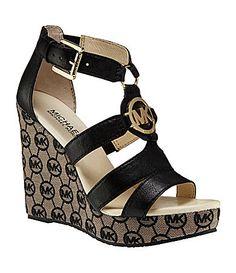 MICHAEL Michael Kors Gabi Wedge Sandals   Dillards.com