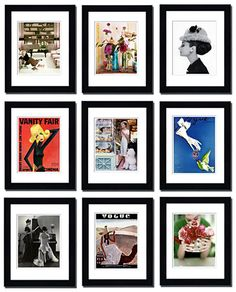 Article on the many things you can frame to hang on your wall.  love it