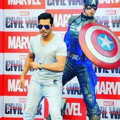 Check out the Indian Voice of Captain America- Varun Dhawan at the Captain America Civil War event! ...