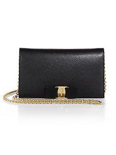 Salvatore+Ferragamo Miss+Vara+Bow+Chain+Wallet