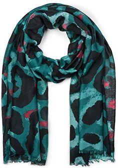 styleBREAKER Châle pour femme avec grand motif léopard et franges écharpe  d hiver étole foulard a5334f21bc5