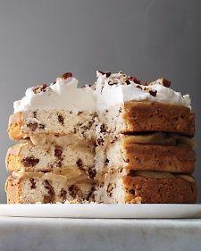 Pecan cake w/ pears