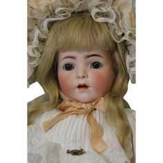 21 Inch Antique Franz Schmidt Character Toddler Doll 1295 F.S.&C from turnofthecenturyantiques on Ruby Lane