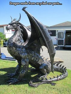 Dragon-metal-work-art~shut up and take my money
