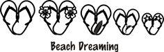 beach, beach, beach Sandal family car stickers!