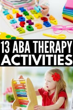 These ABA therapy activities for kids with autism spectrum disorder will give you heaps of ideas you can use at school, in therapy, and at home! Aba Therapy For Autism, Aba Therapy Activities, Autism Education, Social Skills Activities, Autism Parenting, Autism Activities, Autism Resources, Activities For Kids, Behavioral Therapy