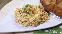Cea mai simpla si mai delicioasa Salata Coleslaw cu varza - crocanta, gustoasa si cu un sos usor de iaurt - vedeti reteta mea pas cu pas si cu VIDEO... Veg Recipes, Vegetarian Recipes, Cabbage, Spaghetti, Meals, Chicken, Vegetables, Ethnic Recipes, Food