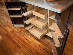 kitchen cabinet made from wood with spice pull out rack shelves ideas cabinets are american walnut