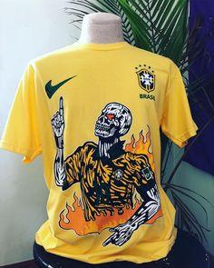 "142dd282ba74  2ndhandtextiles on Instagram  ""Warren Lotas World Cup Brazil Soccer Jersey"