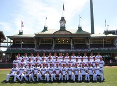 The Arizona Diamondbacks pose for a team photo at the Sydney Cricket Ground in Sydney, Wednesday, March 19, 2014. The MLB season-opening two-game series between the Los Angeles Dodgers and Arizona Diamondbacks in Sydney will be played this weekend. (AP Photo/Rick Rycroft)