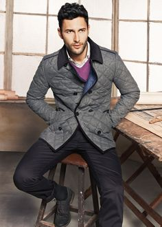 Noah Mills Returns to H.E. by Mango for a Look at Fall/Winter 2012