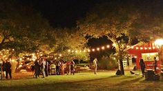 Wedding at Red Corral Ranch with festoon lighting.