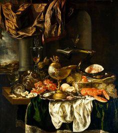Still Life with Landscape 1650s Abraham Hendricksz van Beyeren c. 1620–1690