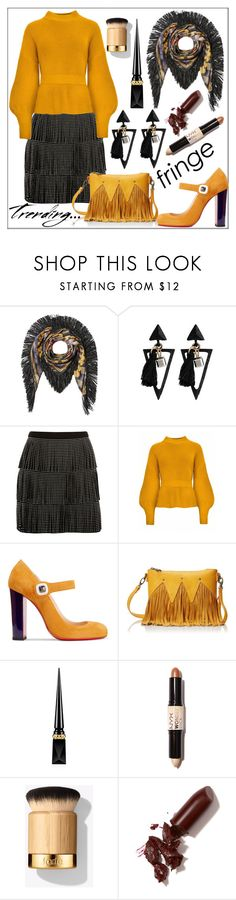 """""""Shimmy Shimmy: Fringe"""" by pat912 ❤ liked on Polyvore featuring Etro, River Island, Christian Louboutin, Urban Originals, NYX, LAQA & Co., fringe and polyvoreeditorial"""