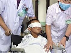 Tragic: Fernando Caleb Alvarado Rios, now aged seven, had his eyes gouged out in May 2012 by his mother, aunt, two uncles and grandparents during a satanic ritual because he refused to close his eyes out of respect