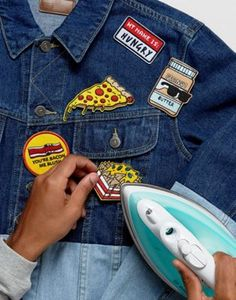 ASOS Iron On Patch 5 Pack With Novelty Food Designs