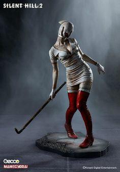 Bubble head nurse from Silent hill Silent Hill 2, Silent Hill Nurse, Arte Zombie, Zombie Art, Chica Gato Neko Anime, Evil Dead, Manga News, She Mask, Anime Figurines