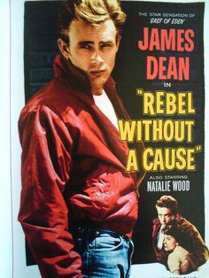 Old Movie heart throb James Dean as rebel without a Cause.....ie ...teenage hood!,