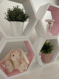 Baby room decor Baby Room Decor, Floating Shelves, Shelving, Custom Made, Planter Pots, Style Inspiration, House Styles, Pink, Home Decor