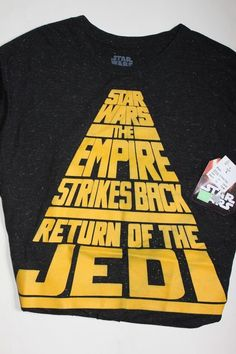 STAR WARS RETURN OF THE JEDI EMPIRE STRIKES BACK T SHIRT LARGE #StarWars #GraphicTee
