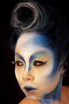 golf make-up geïnspireerd door cirque du soleil Fx Makeup, Contour Makeup, Alien Make-up, Make Up Designs, Prosthetic Makeup, Fantasy Make Up, Performance Makeup, Theatrical Makeup, Theatre Makeup