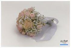 Hochzeit - Brautstrauß mit Ecuador Rosen Pink Mondial, Polyantha Rose und Schleierkraut Ecuador, Floral Wreath, Wreaths, Pink, Decor, Fresh Flowers, Hair Jewelry, Dekoration, Floral Crown
