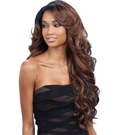 """FreeTress Equal Lace Deep Invisible """"L"""" Part Lace Front Wig - KARISSA (OH227144)…"""