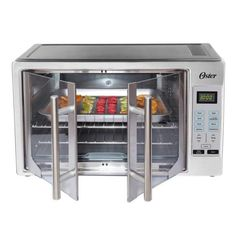 Oster XL Digital French Door Countertop Oven Stainless Steel Convection - Ovens - Ideas of Ovens French Door Oven, French Door Refrigerator, French Doors, Countertop Convection Oven, Convection Cooking, Kitchen Storage Cart, Kitchen Appliance Packages, Stainless Steel Oven, Playroom Furniture