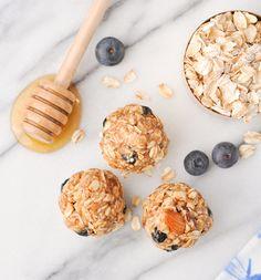 5-Ingredient No-Bake Blueberry Almond Energy Snacks! Snacks for Kids | Healthy Snacks | Snack Ideas | No Bake Energy Bites | Clean Eating Recipes | Meal Prep | Gluten Free