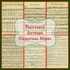 Printable+Christmas+Music+from+Knick+of+Time.jpg 1.600×1.600 pixels