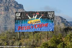 Quinton Faro's work is seen and enjoyed every day by travelers along Route 62 in the Western Cape Little Karoo. Signwriting, Space, Travel, Floor Space, Viajes, Destinations, Traveling, Trips, Spaces