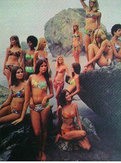 Vintage bikinis Wow ~ so into spring summer look ~Zimmermann Miss Wu exclusively at Bikini & cap com. Beach Wear, Beach Bum, Beach Girls, Bikini Beach, Summer Of Love, Summer Time, Retro Summer, Dick Cheney, 1970 Style