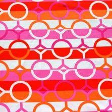 Circle and Diamond Stripe Swimsuit Fabric