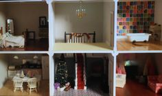 * As seen on Tv!*  Featured on Channel 4s Kirsties Handmade Christmas, 2016  Presenting Noele , a custom built, bespoke Dolls house. Built by hand from Birch plywood in our Kent workshop no detail has been spared on this classic, Georgian style home. Over 200 hours of work went into this build and were very proud to be able to offer it as the first of our built, bespoke houses.  - Front opening - 4 rooms and grand, central staircase - Realistic tile finish, complete with lead flashing…