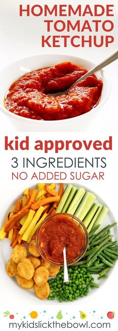Simple homemade tomato ketchup recipe, low sugar, healthy tomato sauce for kids