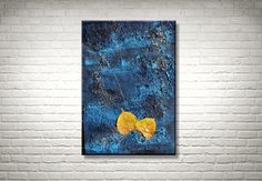 Blätter auf dem Wasser - Original Acrylmalerei von FarbenfrohGalerie auf Etsy