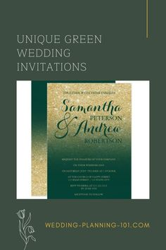 If green is one of your wedding colors you will also want to find green wedding invitations. Get ideas, see photos and find your inspiration today! #GreenWeddingInvitations #GreenWeddingStationery #AmazingWeddingInvitations #WeddingInvitationIdeas #WeddingInvitations