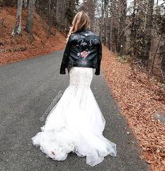 Bridal Jacket by ! Wedding Jacket, Painting Leather, Boho Bride, Bridal Jackets, Wedding Day, Collection, Instagram, Pi Day Wedding, Wedding Anniversary