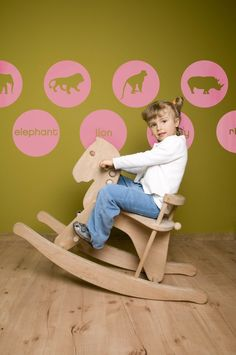 #kinderkamer #muurstickers #Vinyl #Wall #Decals #Children's Animal Circle Graphics #Sticker via Etsy