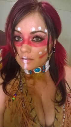american indian makeup pictures - Google Search   Theme - Native ...