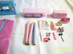 Dressmaking Sewing Machine And Accessories American Girl & Our Generation Dolls