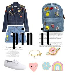 """pin it denim"" by precious-dane ❤ liked on Polyvore featuring Sonia Rykiel, Keds, Paul & Joe Sister, Big Bud Press and ban.do"